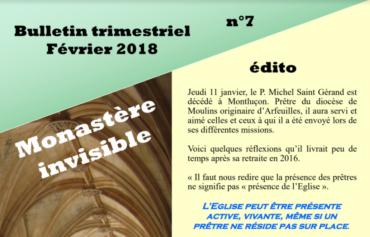 Bulletin du Monastère invisible