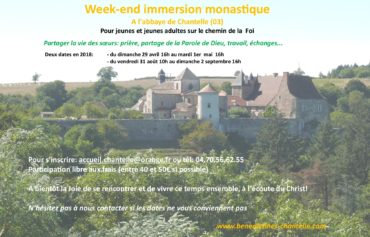 Week-end immersion monastique