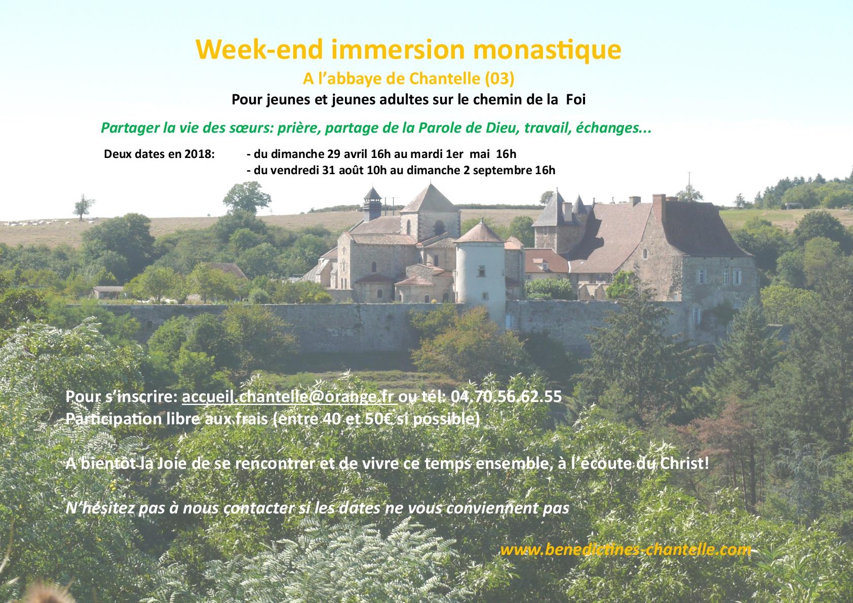 Week-end immersion monastique