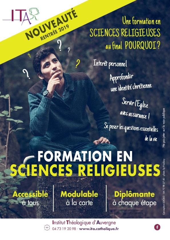 NOUVEAU : FORMATION EN SCIENCES RELIGIEUSES