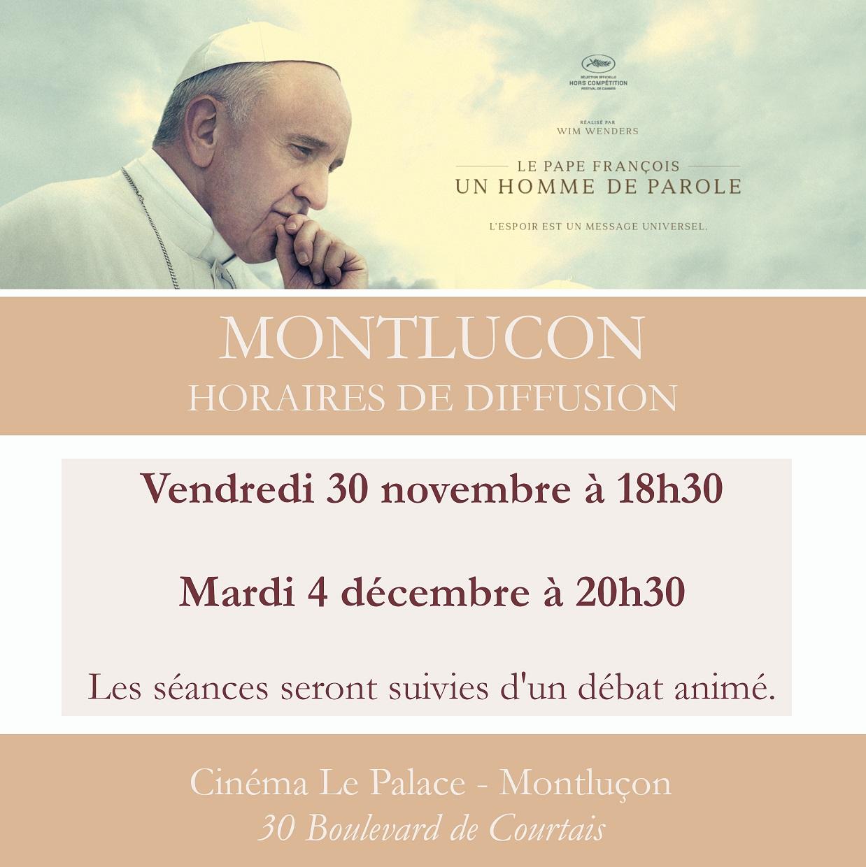 """Cinéma : """"Le Pape François, un homme de parole"""" à MONTLUÇON"""