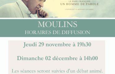 """Cinéma : """"Le pape François, un homme de parole"""" à MOULINS"""