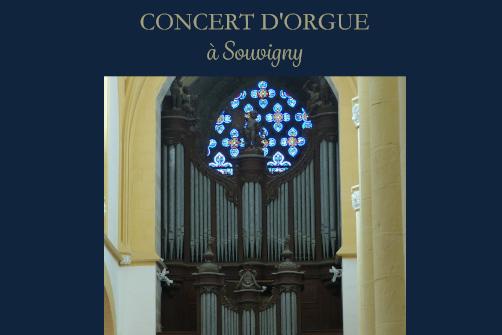 CONCERT D'ORGUE PAR OLIVIER HOUETTE A SOUVIGNY