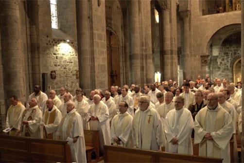 Journée des prêtres à Orcival
