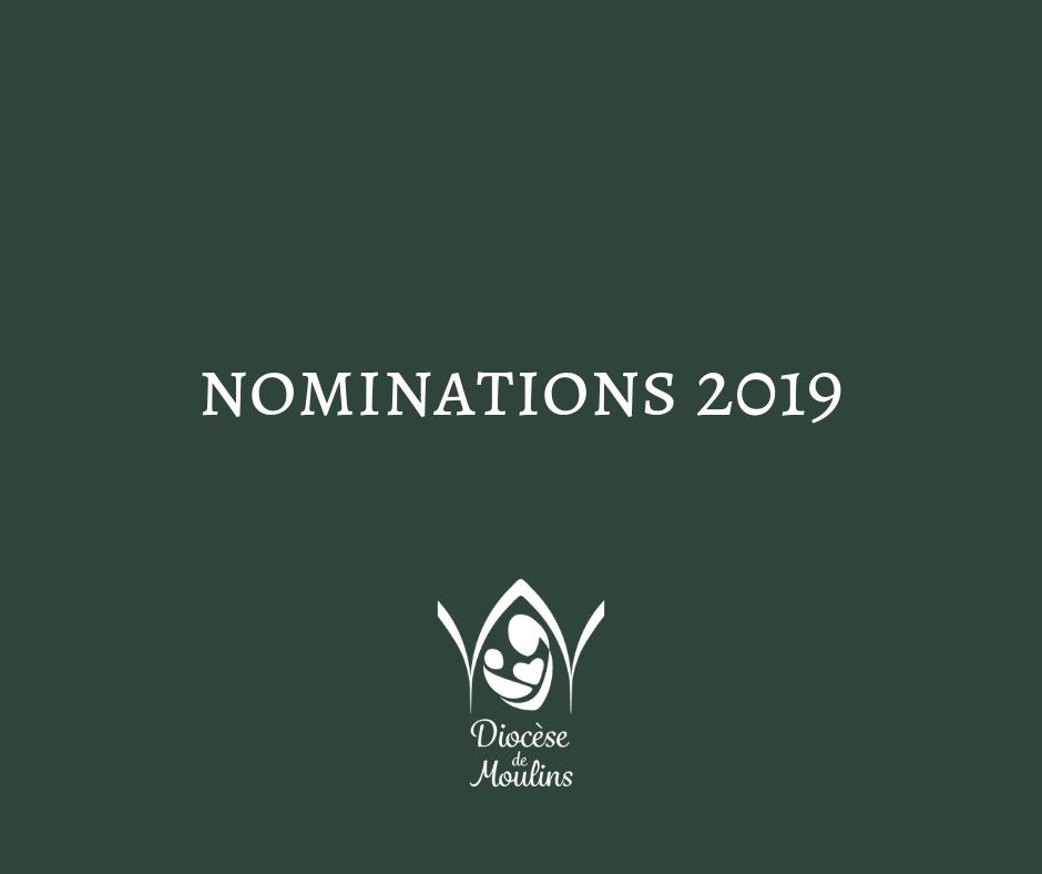 Les nominations des doyens dans le diocèse de Moulins