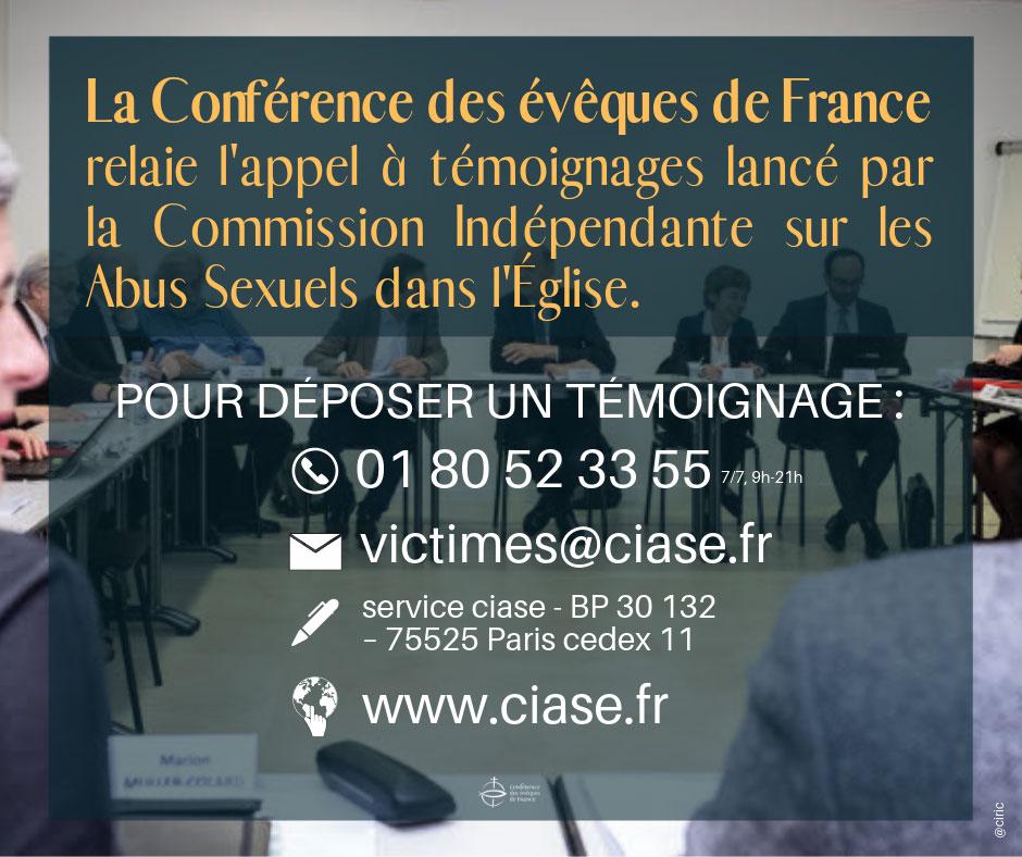 La CEF relaie l'appel à témoignages de la CIASE