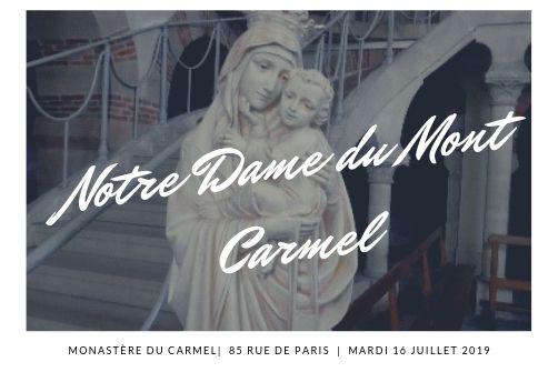 Les grandes fêtes du Carmel