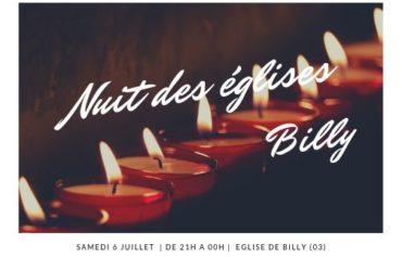 Nuit des églises à Billy