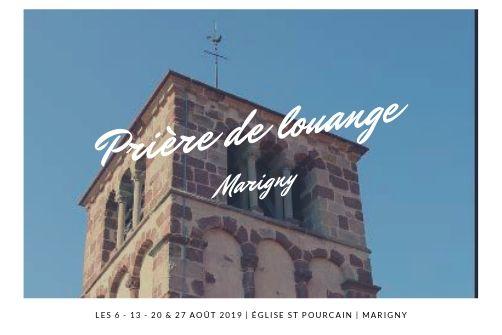 PRIÈRE DE LOUANGE A MARIGNY