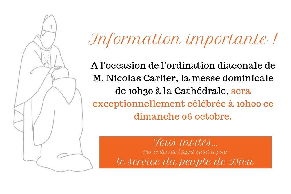 ordination diaconale de M. Nicolas Carlier