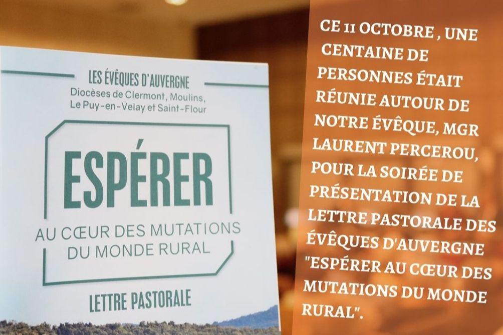 """Retour sur : La soirée de présentation """"Espérer au cœur des mutations du monde rural"""""""