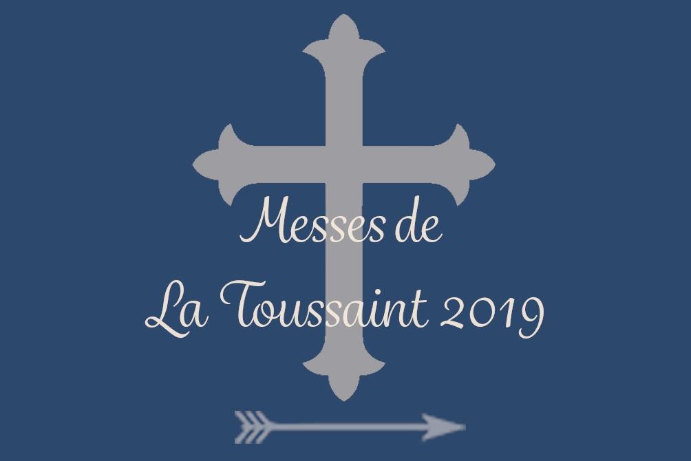 Horaires de Messes de la Toussaint 2019