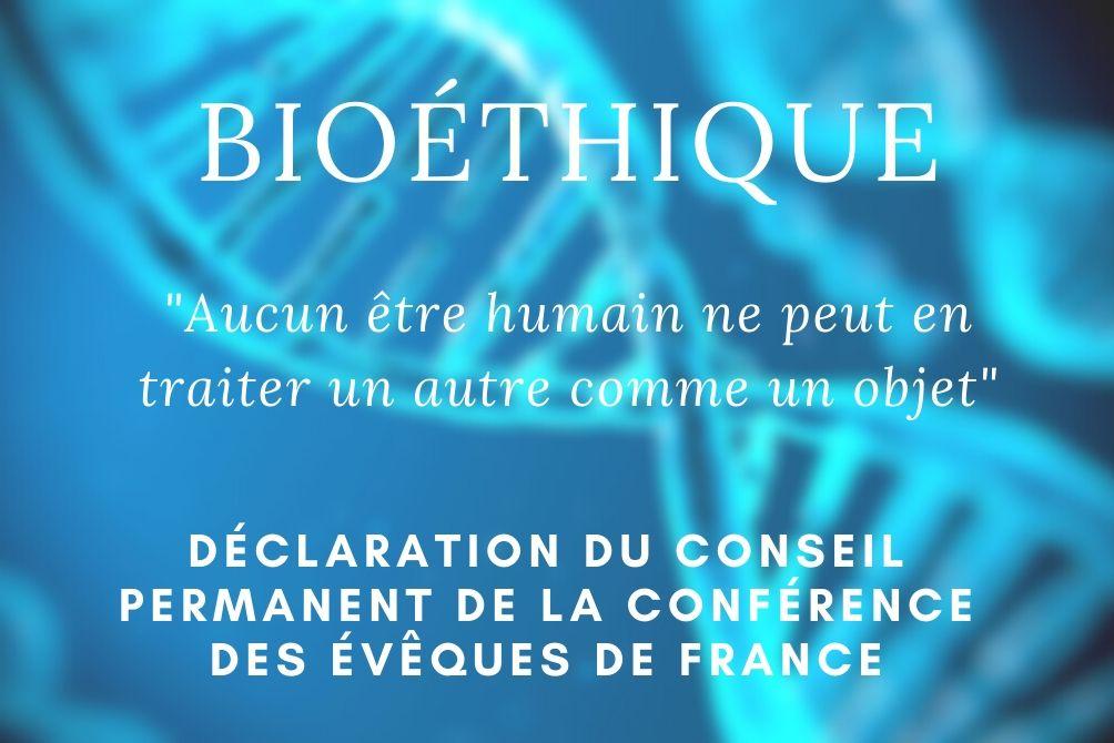 Déclaration du conseil permanent de la Conférence des évêques de France