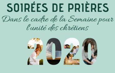 Soirées de prières dans le cadre de la semaine pour l'unité des chrétiens