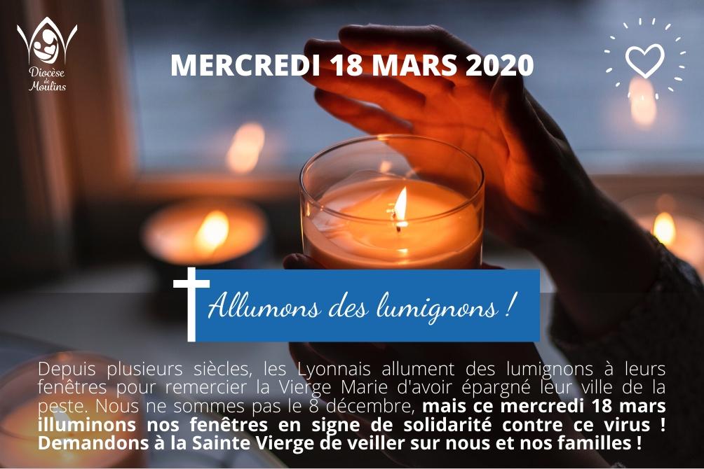 Mercredi 18 mars : Allumons des lumignons !