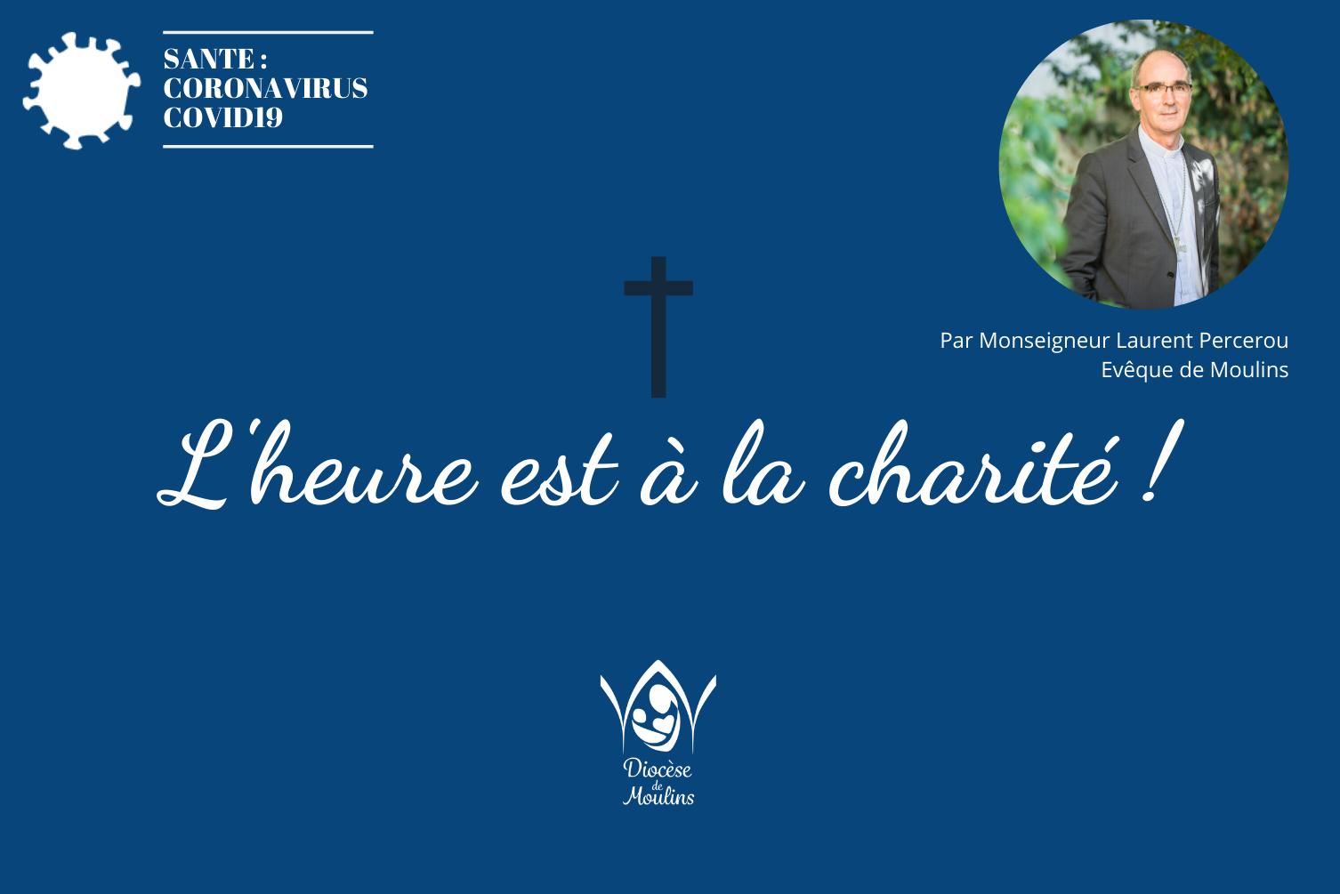 Covid-19 : L'heure est à la charité !