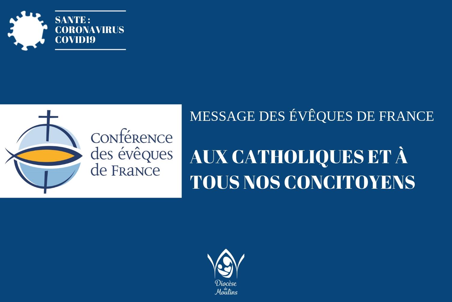 Covid-19 : A l'appel des évêques de France