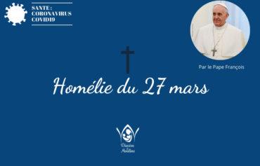 27 mars : Homélie du Pape François