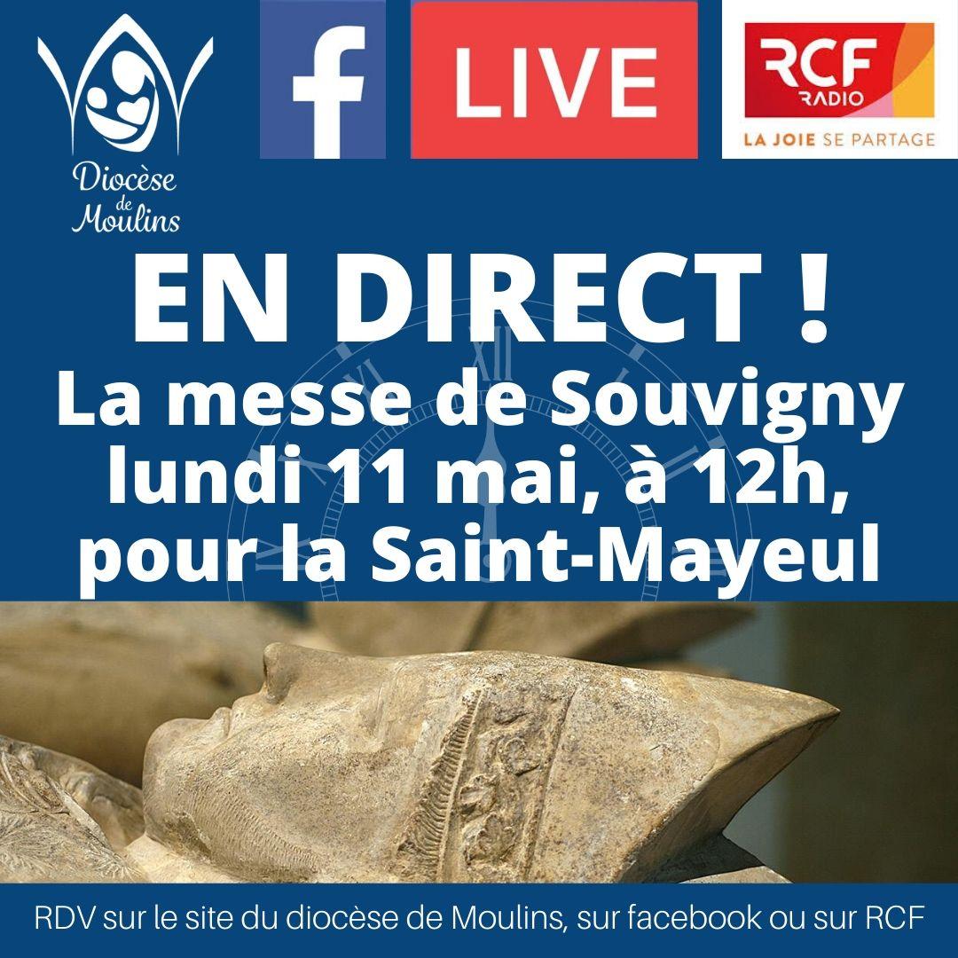 Messe à Saint Mayeul, le 11 mai, en direct !