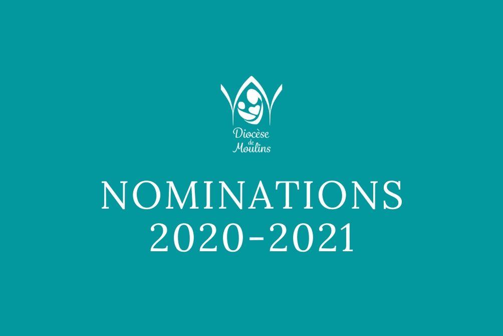 Nominations du vendredi 29 mai 2020