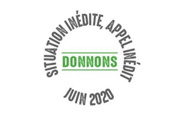 Situation inédite, appel inédit, donnons !
