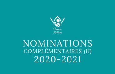 Nominations complémentaires (II) – pour septembre 2020