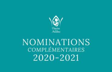 Nominations complémentaires – pour septembre 2020