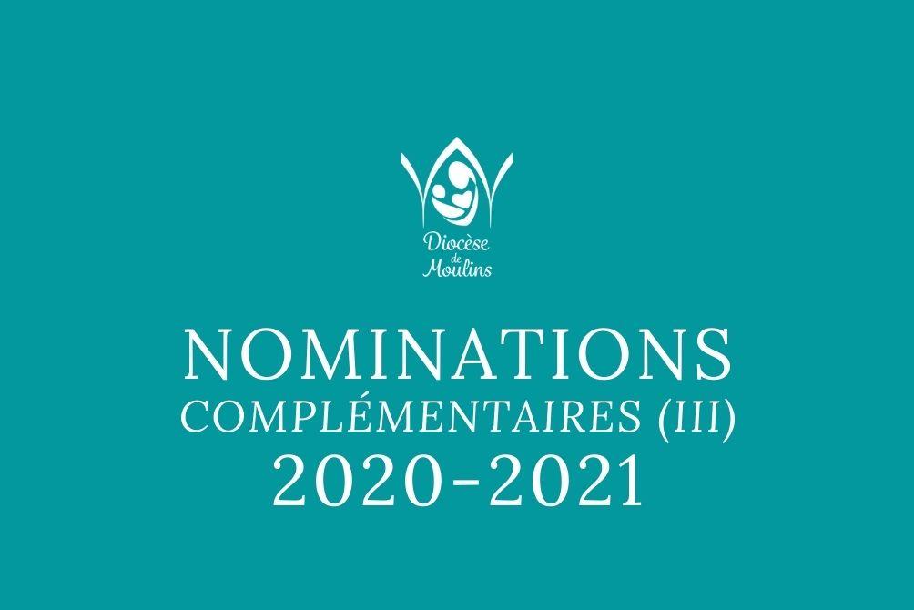 Nominations Complémentaires (III) -  Forme extraordinaire du rite