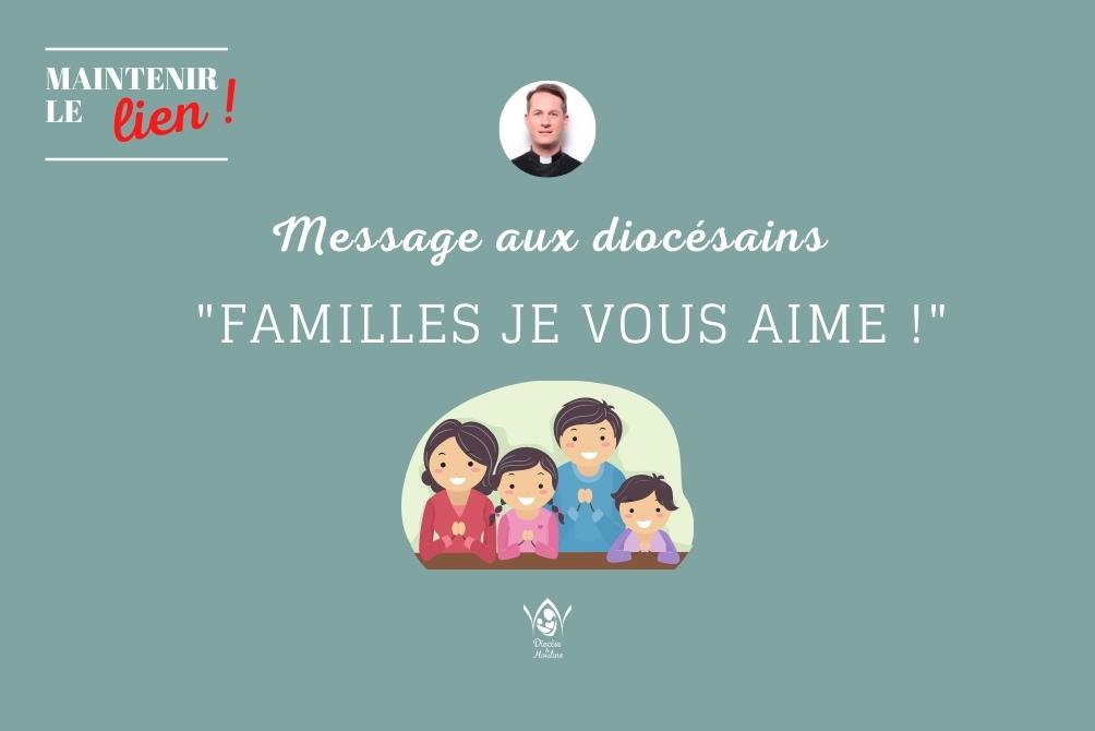 """#Maintenirlelien """"Familles je vous aime"""" par JP Morin"""