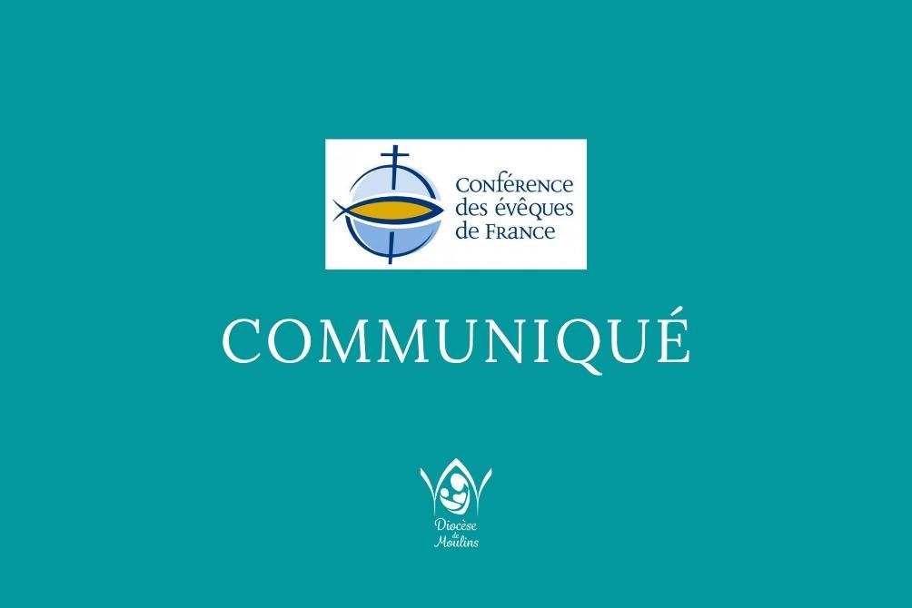 Communiqué officiel de la Conférence des évêques de France
