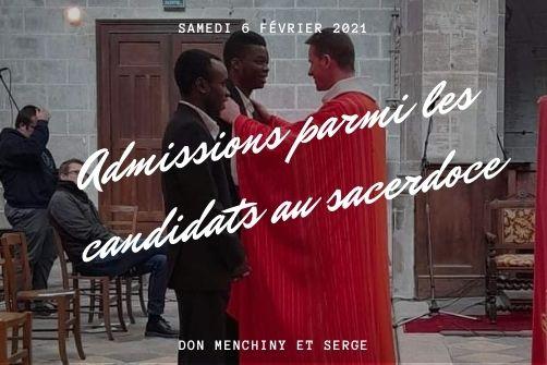 Admission parmi les candidats au sacerdoce de Serge et Don Menchiny