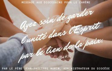 Message aux diocésains pour le carême