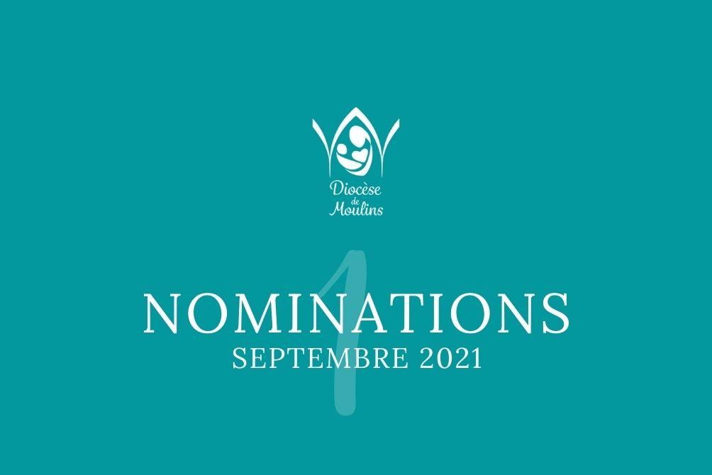 Nominations au 1er septembre 2021