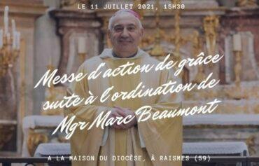 Messe d'action de grâce à Cambrai
